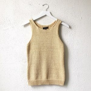Theory | Cream Knit Tank Top Vest Small